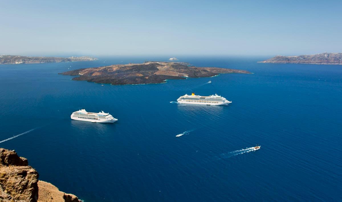 Two Cruises in sea