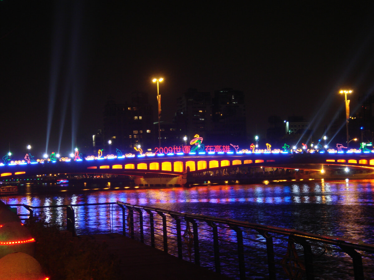 Love River view at night