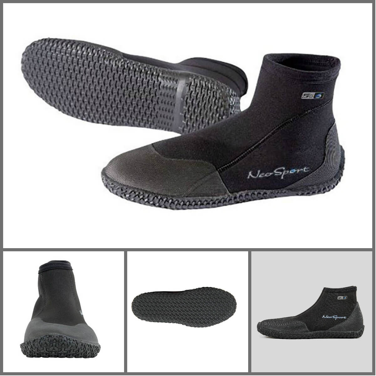 NeoSport Wetsuits Premium Neoprene 3mm Low Top Pull-On Boot