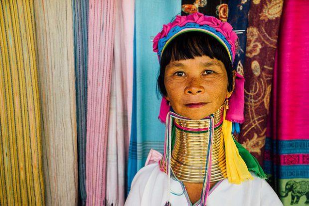 Thailand Longneck Woman Tribal Culture